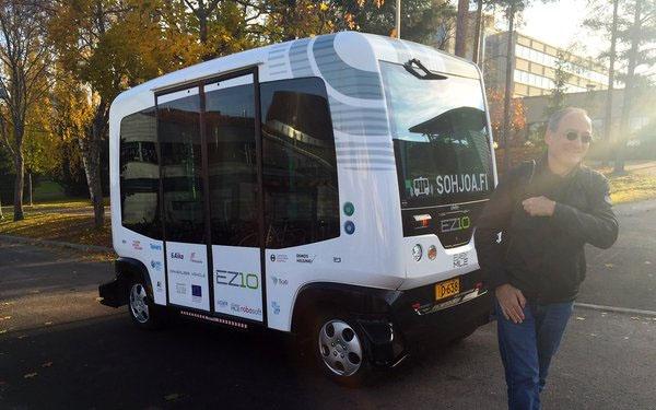Robot bus in Hervanta Business Tampere