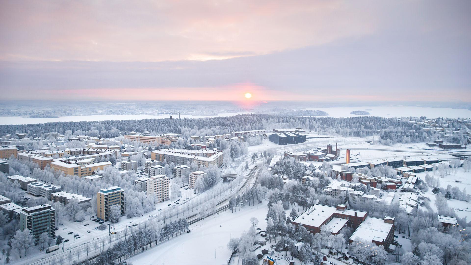 Winter landscapes from Näsinneula