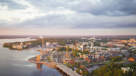 Tampere city regionm, view from Näsinneula.