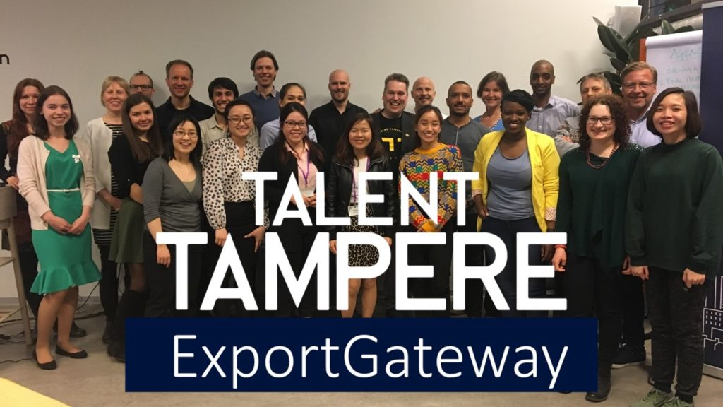 Talent Tampere Export Gateway - First event logo