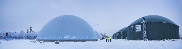 Doranovan toimittama biokaasulaitos otettiin käyttöön Jepualla syksyllä 2013. Kuva: Olli-Pekka Latvala