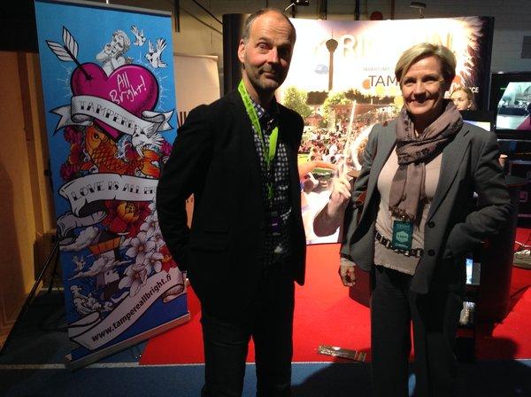 Aku Syrjä ja Minna Tiihonen tekevät työtään rakkaudella.