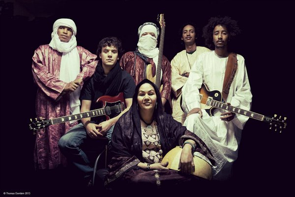 Tamikrest is the top ensemble of the new generation of the Tuareg indigenous people of the Western region of the Sahara. Photo: Thomas Dornbirn.​