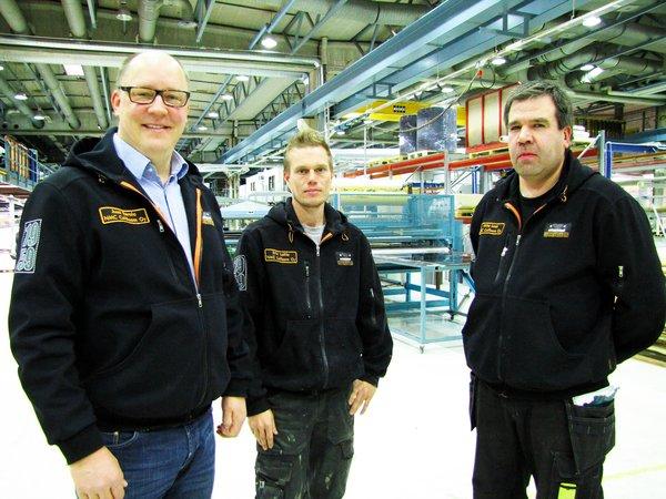 NMC Cellfoam on Suomen johtava solumuovin jatkojalostaja, jolla on markkinoiden monipuolisin laitekanta ja osaava henkilöstö. Kuvassa Jussi Eerola, Erkki Laitinen ja Miika Laak.