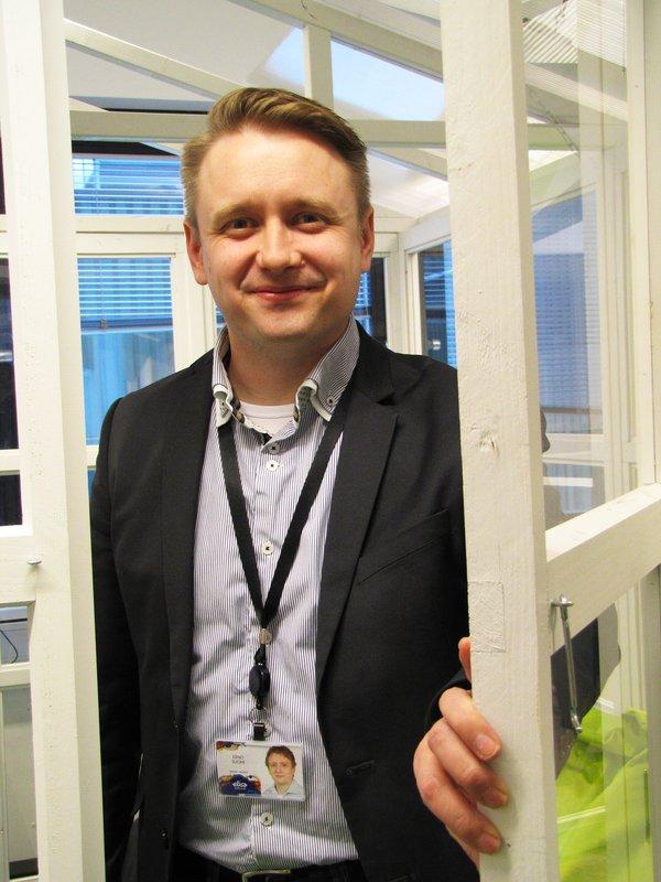 Elisa Appelsiinin Tampereen toimintoja koordinoiva Erno Suomi.