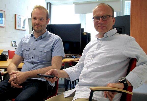 Ari Pöyhtäri and Jukka Eklund of Sofia Digital in Tampere, exporting interactive television