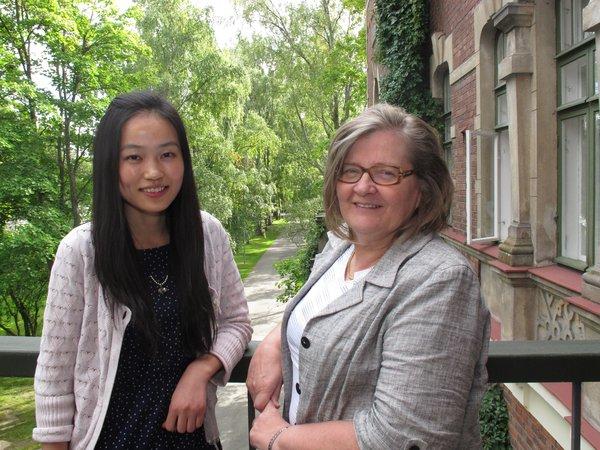 Yang Ping ja Sinikka Tuli olivat yksi viime syksyn mentorointipareista (kuva: Päivi Eskelinen)