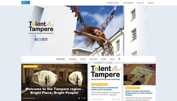 Uusi Talenttampere.fi -sivusto