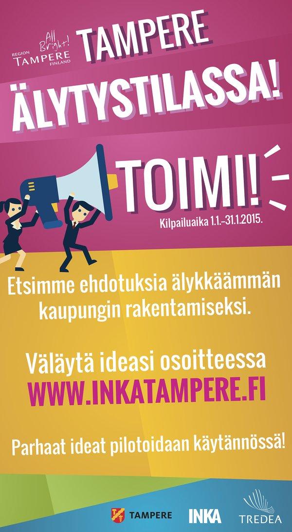 Tampere ÄLYtystilassa -kilpailun juliste