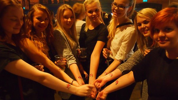 Tampere is also the most loved city in Finland. The students were ready to prove it by getting a Tampere tattoo.​
