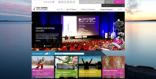 """VisitTampere.fi travel website of the Tampere Region has been designed to answer the question: """"What should I do?"""""""
