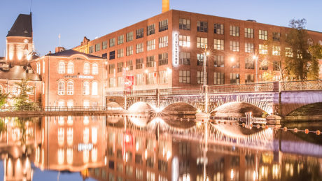 Tampere - Finlayson, Frenckell and Tammerkoski by night
