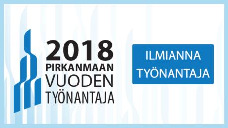 Ilmianna Pirkanmaan Vuoden Työnantaja 2018!