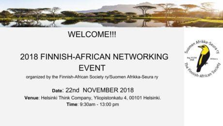 Afrikka Seura event 2018 10