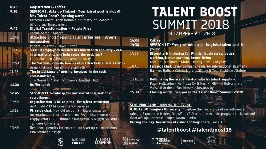 Talent Boost Summit OHJELMA
