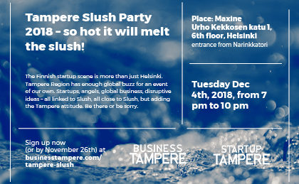 Business Tampere, Tampere Slush Party 2018