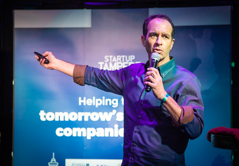 Business Tampere_Investor Chis Vargas at the Tampere Slush Party 2018. Photo: Mirella Mellonmaa