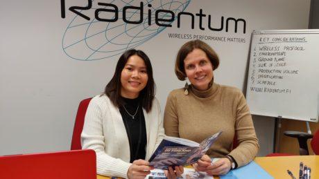 Radientum Oy:n Christine Nguyen ja TE-toimiston EURES-asiantuntija Sonja Pihlaja 17.01.2019