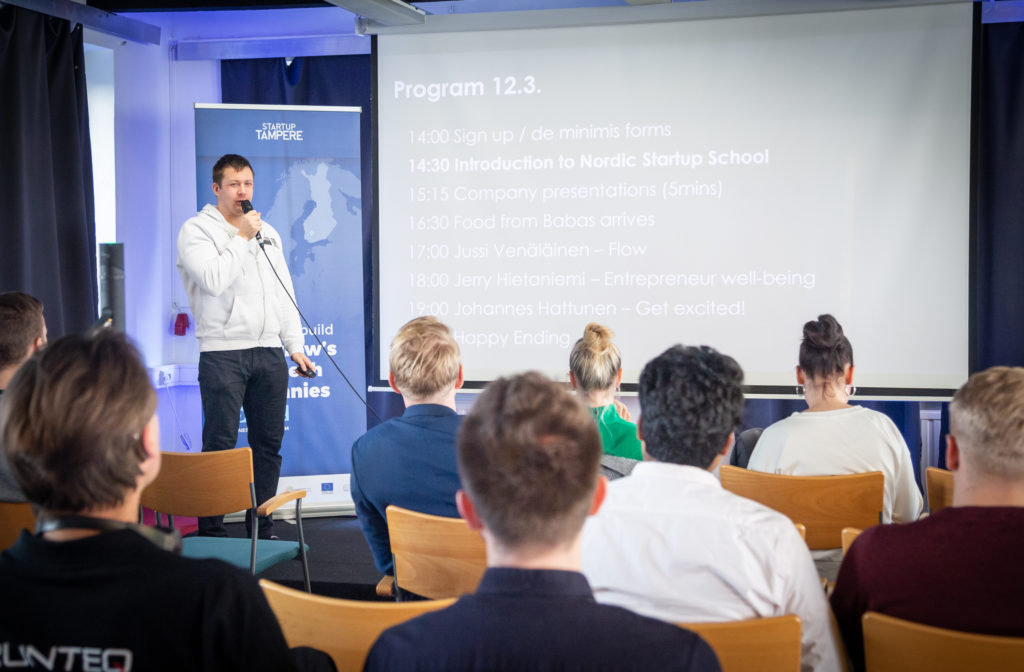 Business Tampere Nordic Startup School. Photo: Mirella Mellonmaa