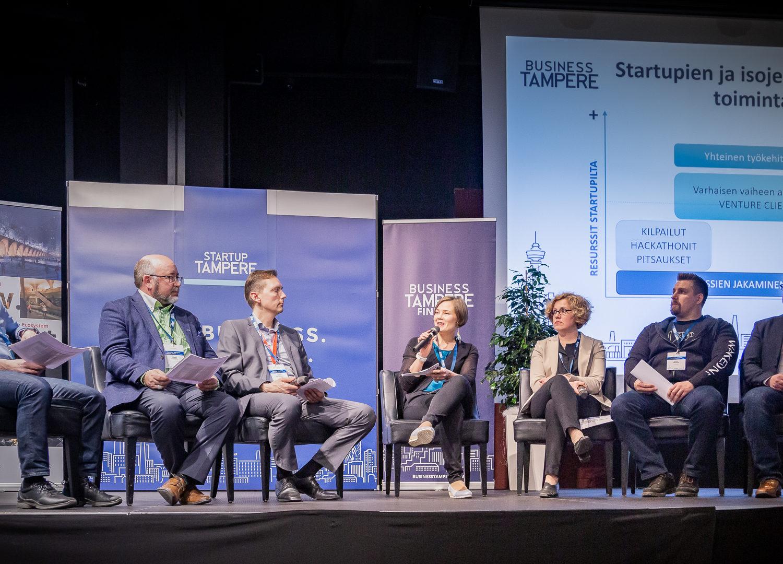 Tampere Industry Startup Forum tapahtuman paneelikeskustelu 16.4.2019