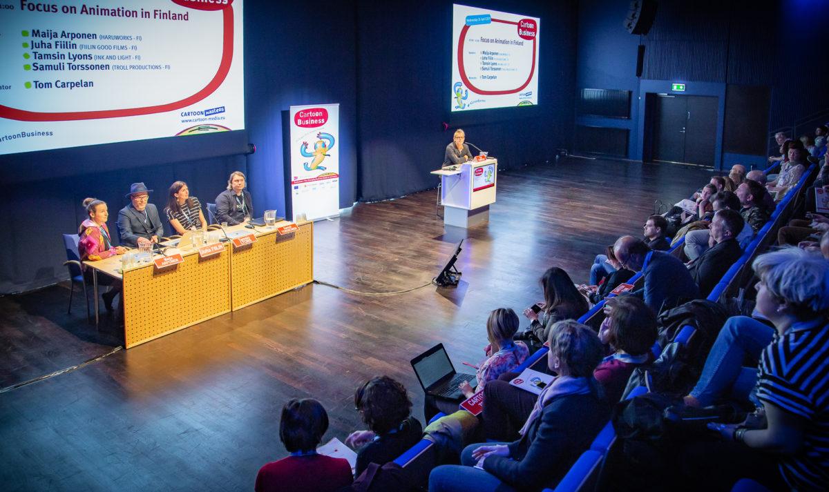 Focus on animation in Finland -sessio konferenssissa.