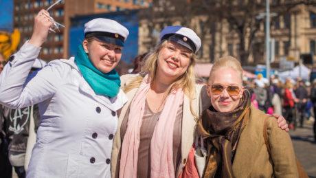 Opiskelijat Vappuna 2017 Tampereella. Kuva: Laura Vanzo