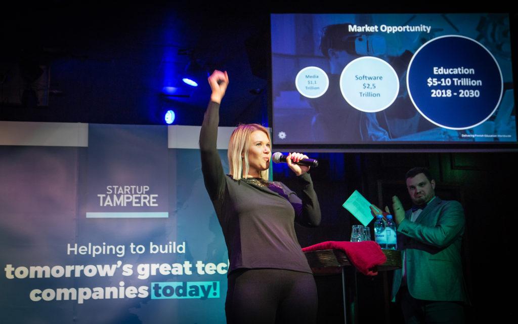 Business Tampere Tampere Slush Party Mirella Mellonmaa