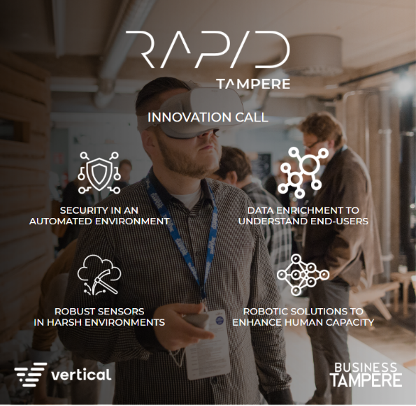 Rapid Tampere innovation calls flyer