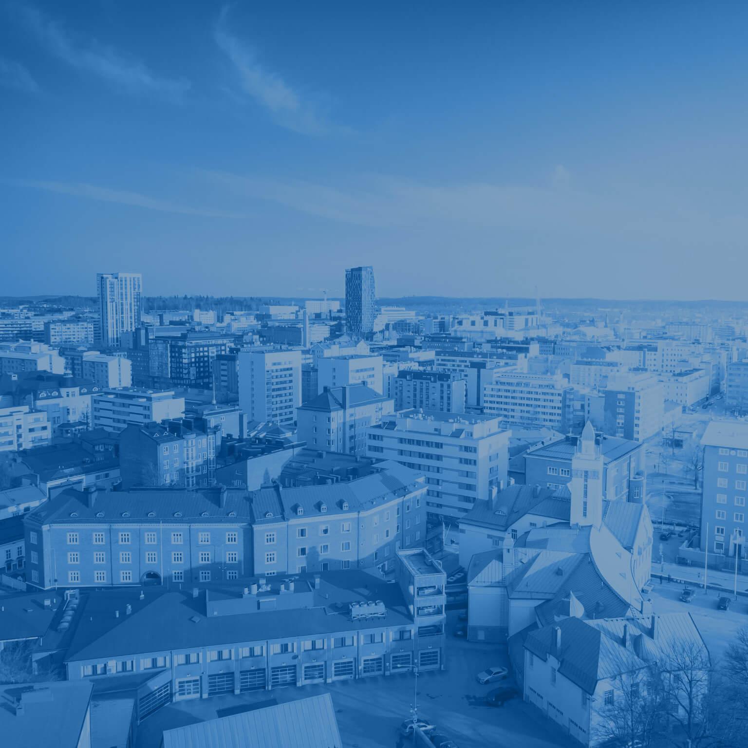 Tulevaisuuden muutostekijät Visit Tampere Beginning of Spring City center Drone views Laura Vanzo 1