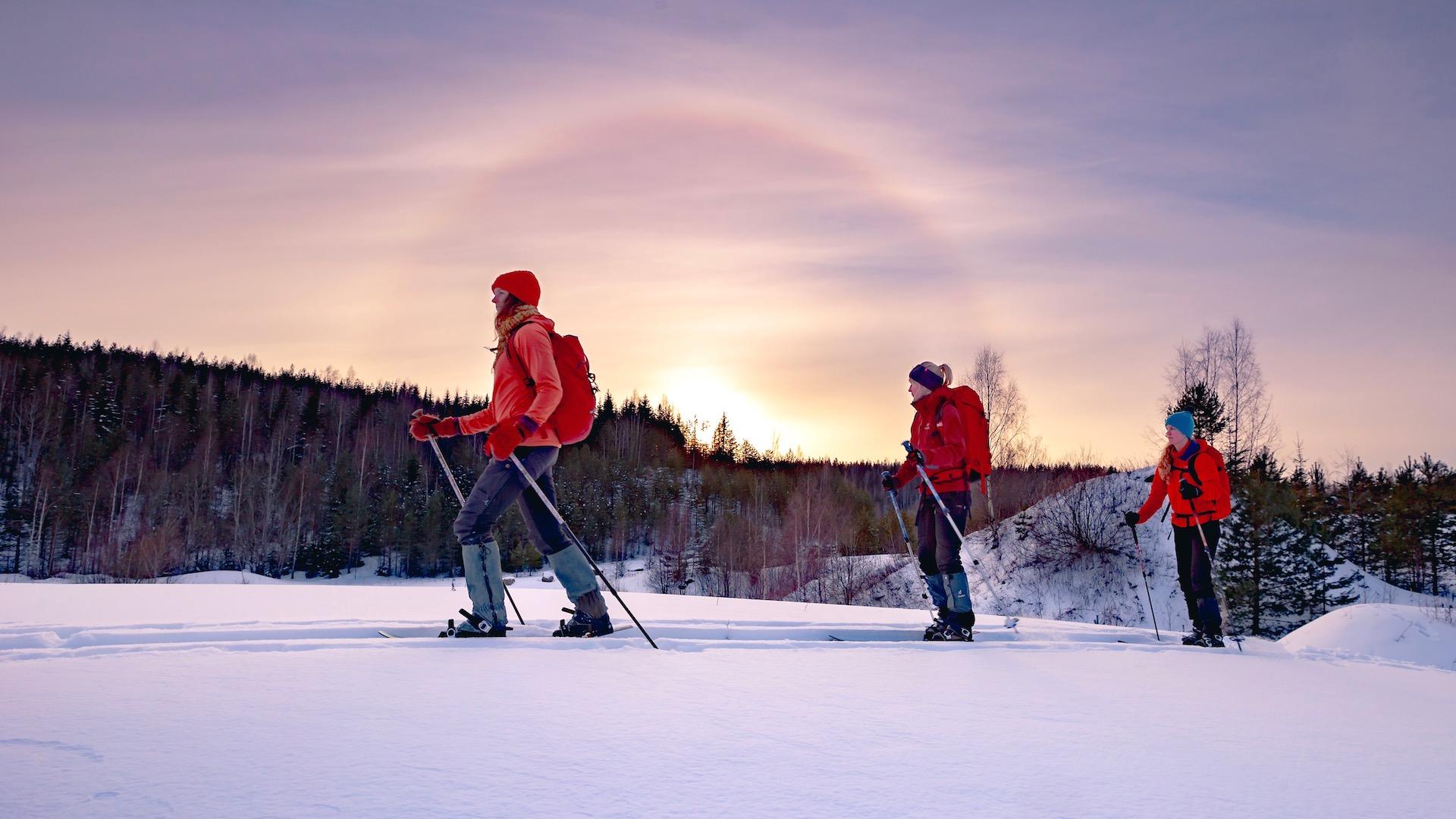 Kangasala OAC Finland hiihtäjiä talvimaisemassa