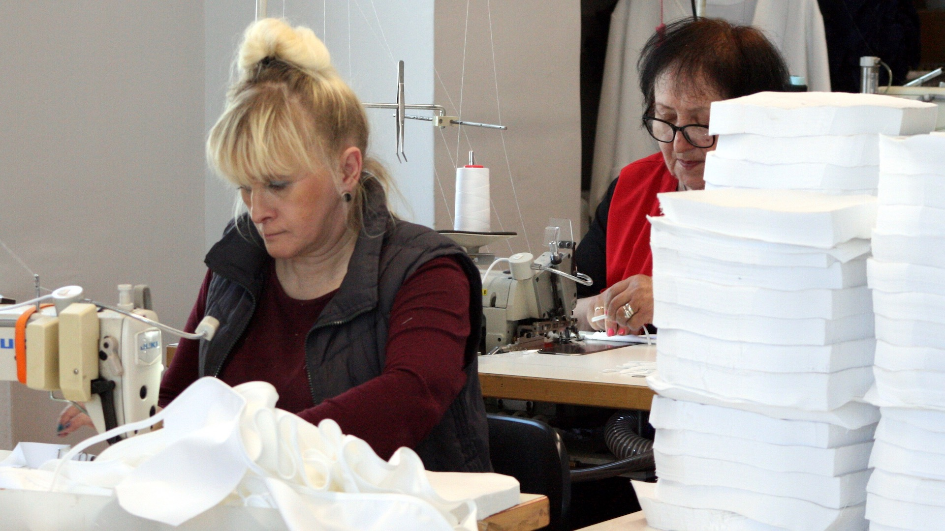 Face masks in production