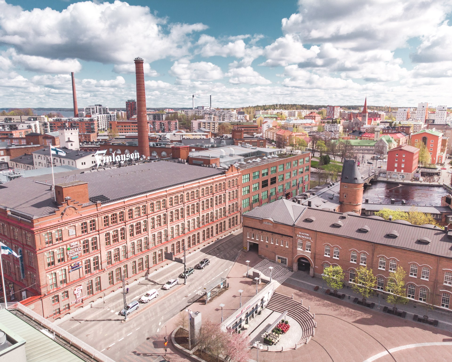 Visit Tampere Drone Spring 2020 Frenckell area Photo: Laura Vanzo