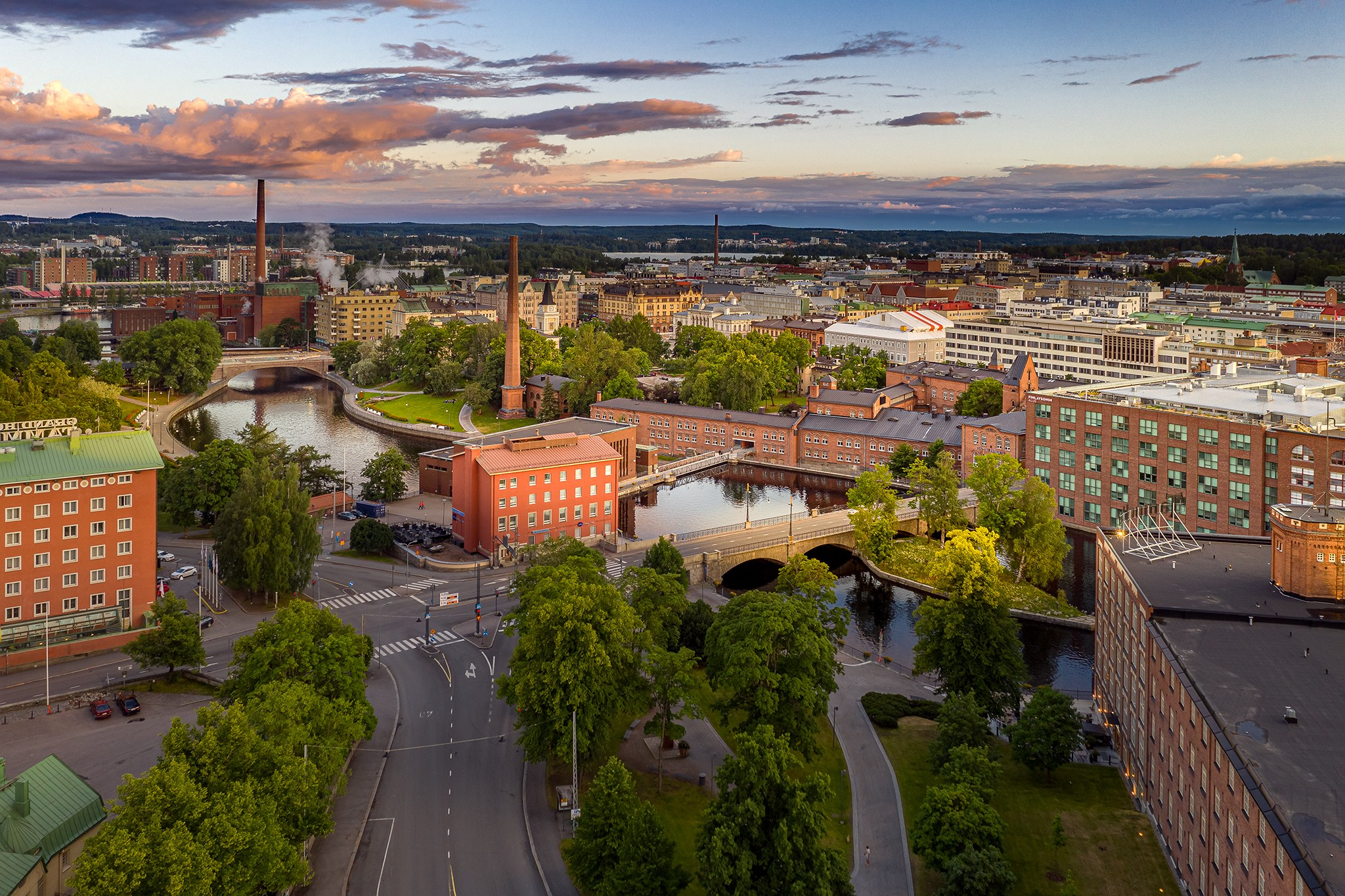 Visit Tampere Drone view Tammerkoski DJI 0041 Skyfox Marko Kallio