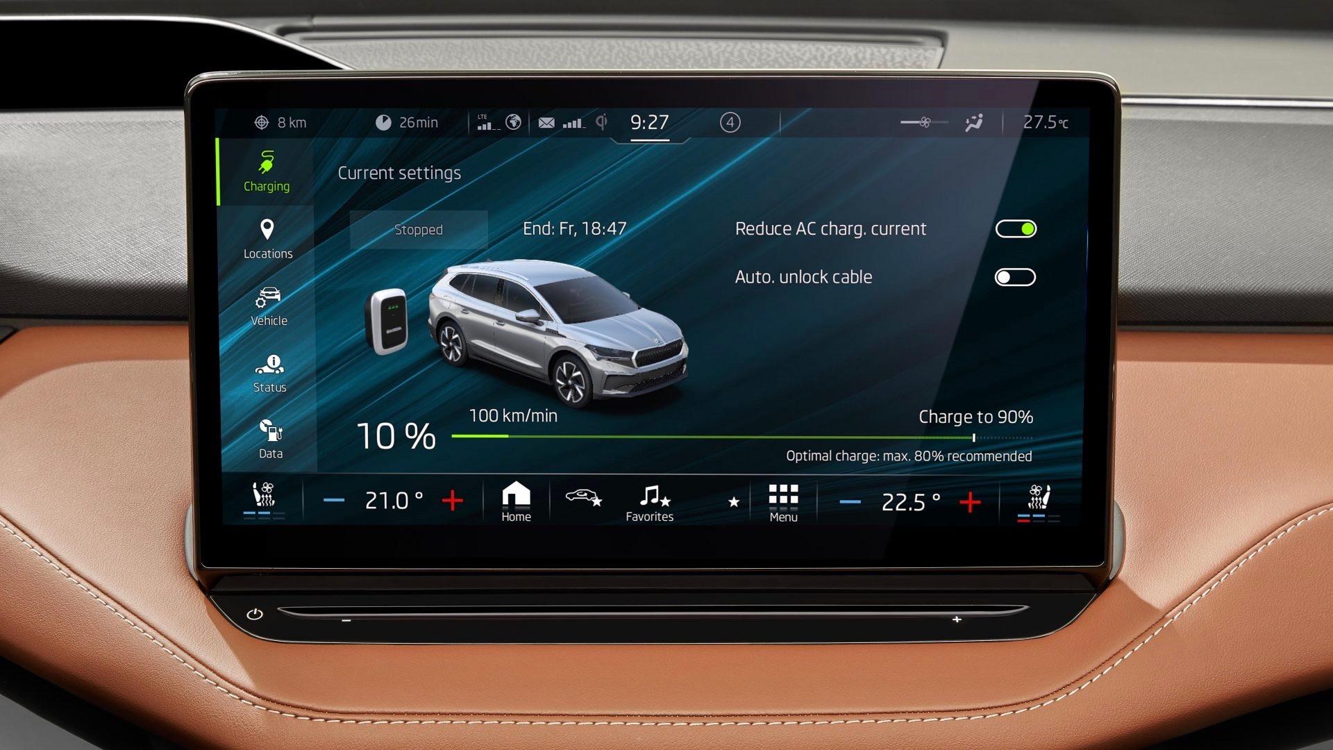 Škoda central touchscreen