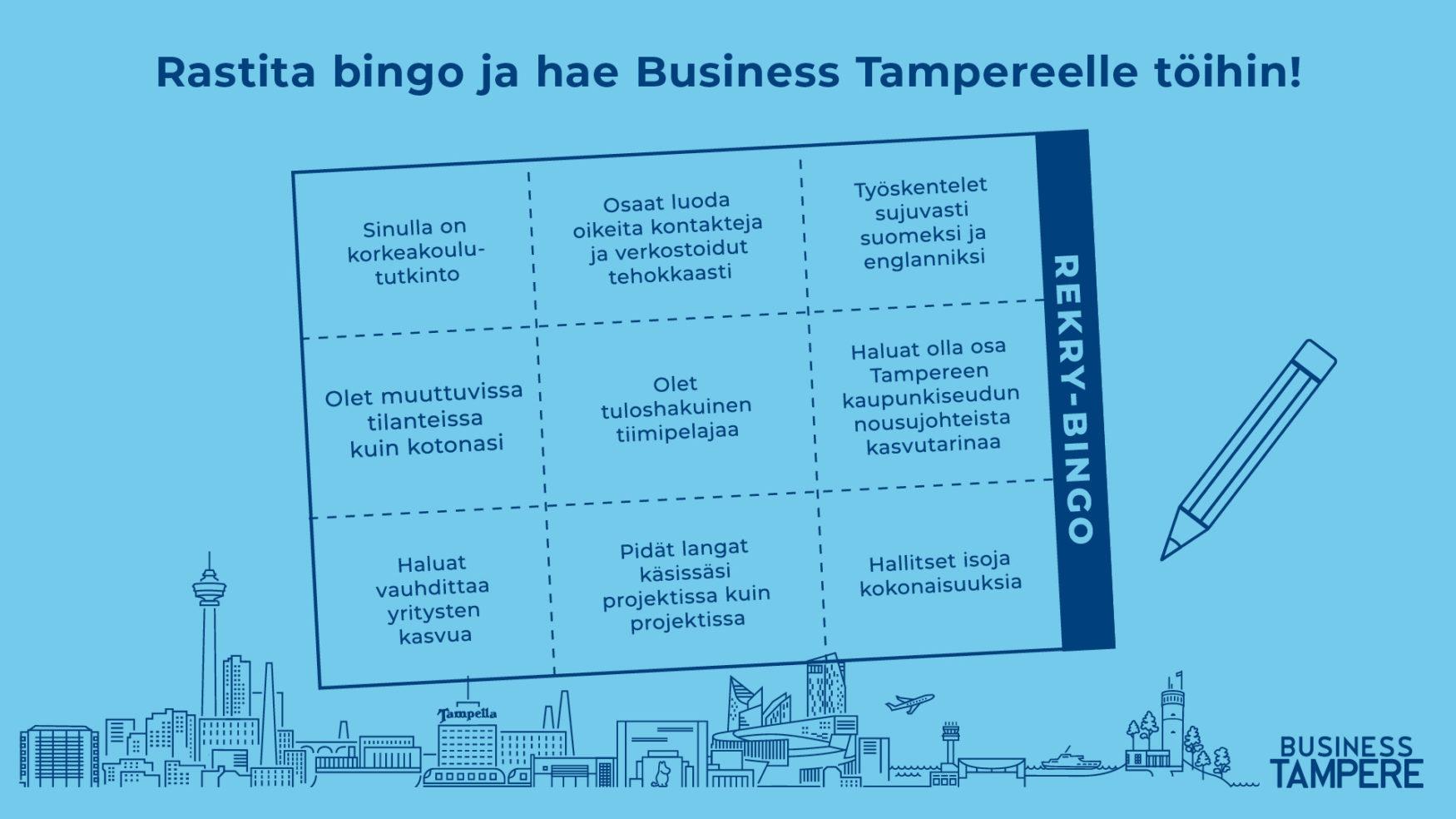 rekrybingo Business Tampere rekrytoi